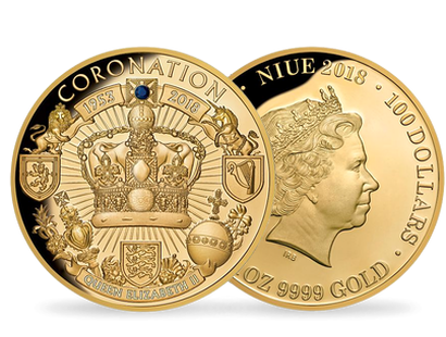 Coronation 65th Anniversary Sapphire 2018 $100 1oz Gold Proof Coin