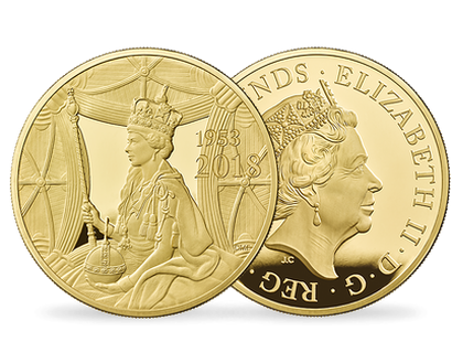 The 65th Anniversary of The Coronation of Her Majesty The Queen 2018 5oz Gold Proof Coin