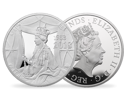 65th Anniversary of The Coronation of Her Majesty The Queen 2018 5oz £10 Silver Proof Coin