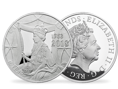 The 65th Anniversary of The Coronation of Her Majesty The Queen 2018 £500 Silver Proof Kilo Coin