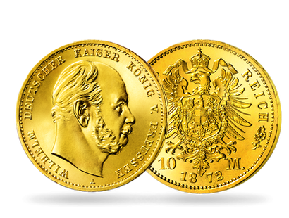 10 Mark Goldmünze Kaiser Wilhelm I.