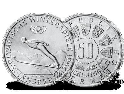 50 Schilling Silbermünzen Imm Münz Institut