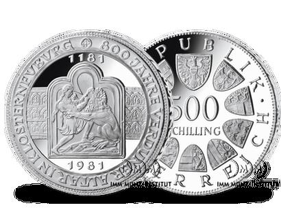 500 Schilling Silbermünzen Imm Münz Institut