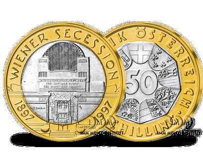 50 Schilling Bi Metall Gedenkmünzen Imm Münz Institut