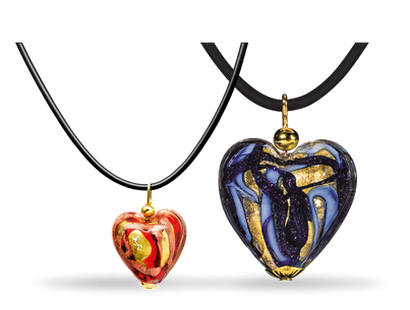 "Collier ""Endless Love"" aus echtem Murano-Glas"