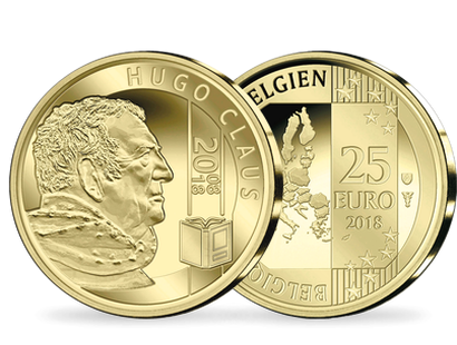 Belgiens 25-Euro-Goldmünze ''Hugo Claus'' 2018