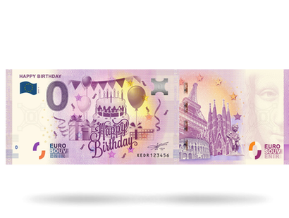 0-Euro-Banknote ''Happy Birthday''