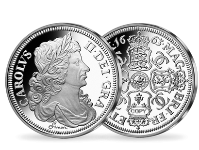 Million-Dollar Silver Commemoratives - 1663 Charles II Reddite Crown