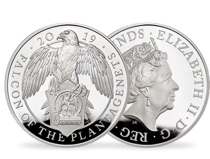 The Falcon Of The Plantagenets 2019 £10 Five-Ounce Silver Proof Coin