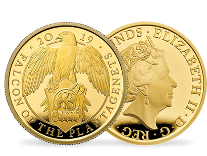 The Falcon Of The Plantagenets 2019 One-Ounce Gold Proof Coin