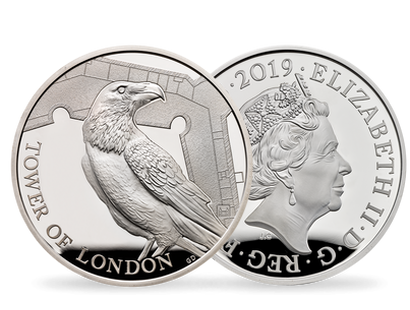 The Tower of London 2019 - The Legend of the Ravens Silver Proof Piedfort Coin