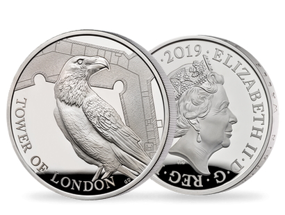 The Tower of London 2019 - The Legend of the Ravens Five-Ounce Silver Proof Coin