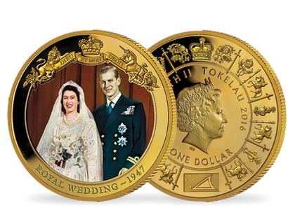 Queen Elizabeth II Gold-Plated Coin Collection