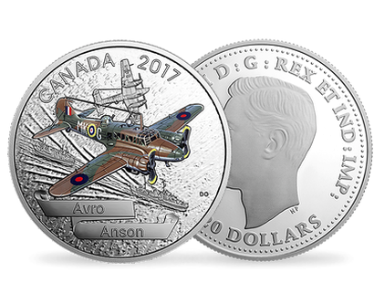 Aircraft of the Second World War: Avro Anson Fine Silver Coin