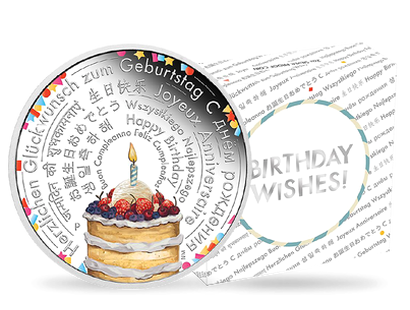 Birthday Wishes 2018 2 oz. Silver Proof Coin