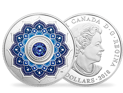 Birthstone - September 2018 $5 Silver Proof Coin with Swarovski® Crystal