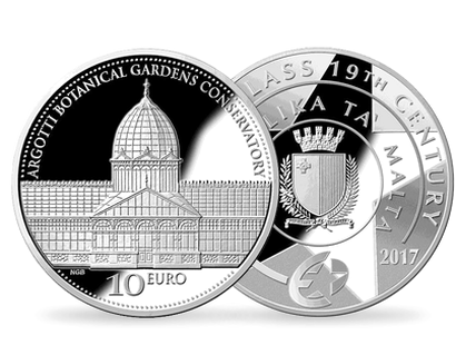 Age of Iron and Glass Argotti Botanical Gardens Conservatory €10 Silver Coin