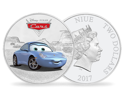 Disney Pixar Cars - Sally 1oz Silver Coin