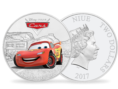 Disney Pixar Cars Lightning McQueen 1oz Silver Coin