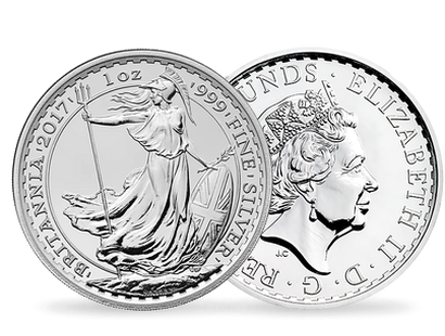 Britannia 2017 1oz Silver Brilliant Uncirculated Coin