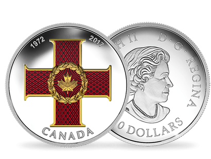Canadian Honours 45th Anniversary of the Cross of Valour 2017 $20 Fine Silver Coin