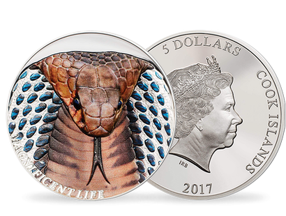 Cobra 2017 Curved High Relief $5 1oz Silver Proof