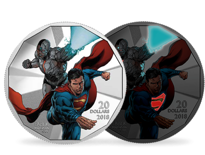 The Justice League - Cyborg and Superman 2018 $20 Fine Silver Coin