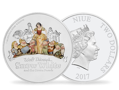 Snow White and the Seven Dwarfs 80th Anniversary 1 oz Silver Coin