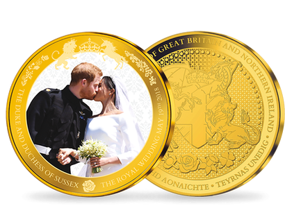 The Duke & Duchess of Sussex Royal Wedding 2018 Gold Plated Commemorative
