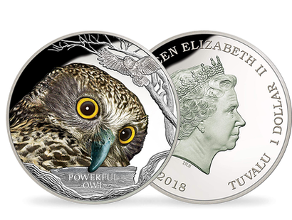 Endangered and Extinct - Powerful Owl 1oz Silver Coin