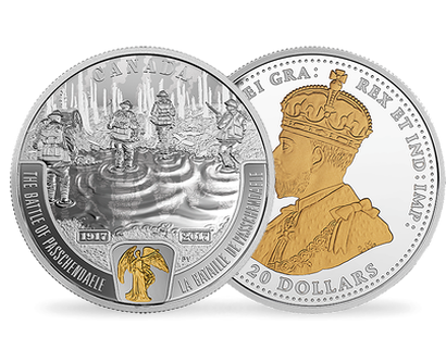 First World War: Battlefront Series - The Battle of Passchendaele 2017 $20 Fine Silver Coin