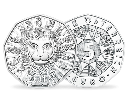 Lion in Winter €5 Brilliant Uncirculated Silver Coin