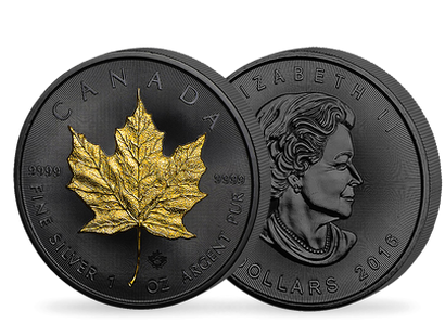 Golden Enigma - Maple Leaf 1 oz Silver Coin