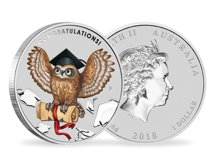 Graduation 2018 1oz Silver Proof Coin