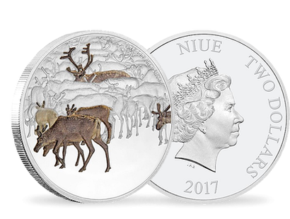 Great Migrations - Caribou 1oz Silver Coin