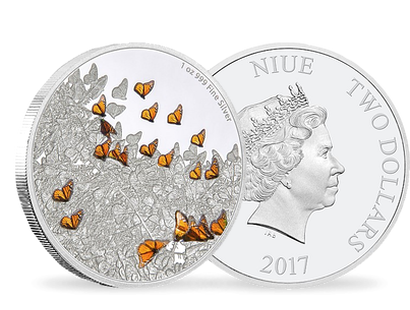 Great Migrations - Monarch Butterfly 1 oz Silver Coin