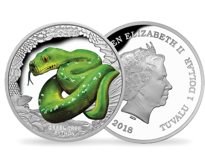 Green Tree Python 2018 1oz Silver Proof Coin