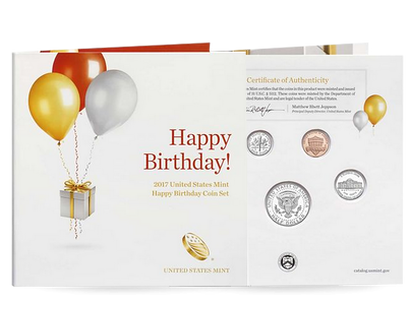 Happy Birthday 2017 5-Coin Set