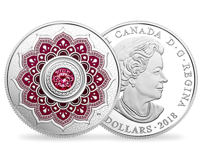Birthstones - January 2018 $5 Silver Proof Coin with Swarovski® Crystal