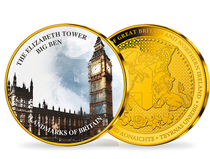 Landmarks of Britain -  Big Ben Gold-Plated Commemorative