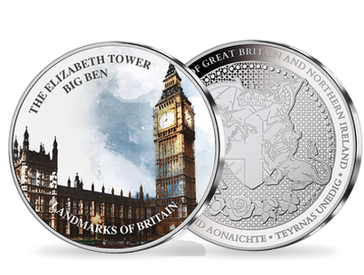 Landmarks of Britain -  Elizabeth Tower Silver Plated Commemorative