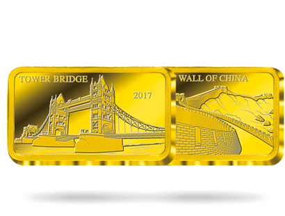 Landmarks of the World Pure Gold Coin Bar Collection