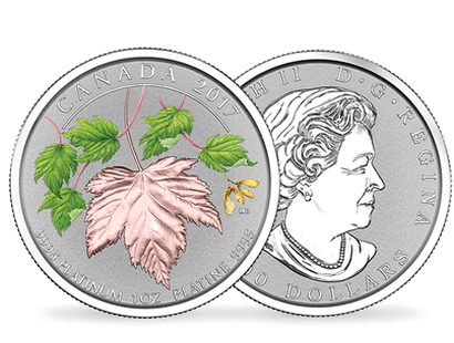 Maple Leaf Forever 2017 $300 Pure Platinum Coin