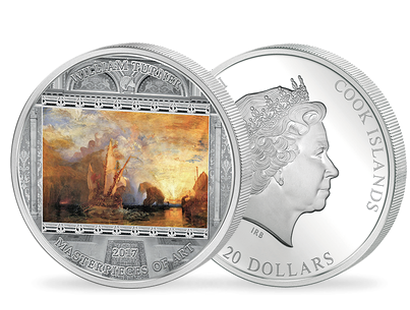 Masterpieces of Art 2017 - J.M.W Turner 3oz Silver Coin