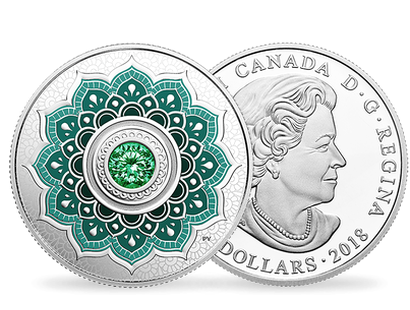 Birthstones - May 2018 $5 Silver Proof Coin with Swarovski® Crystal