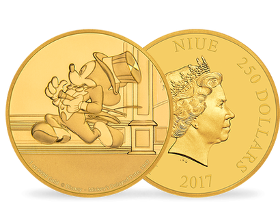 Mickey Through the Ages – 'Mickey's Delayed Date' 1 oz Gold Coin