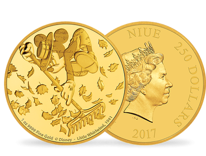 Mickey Through the Ages – 'The Little Whirlwind' 1 oz Gold Coin
