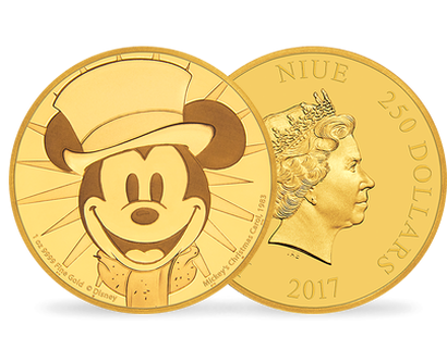 Mickey Through the Ages – 'Mickey's Christmas' 1 oz Gold Coin