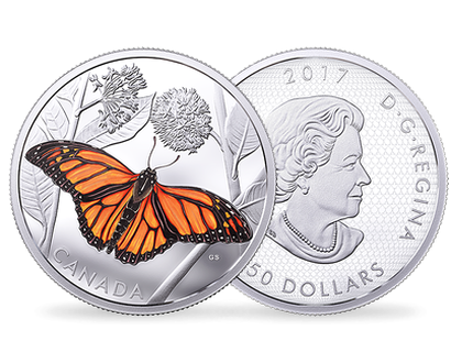 Monarch Migration 2017 $50 Fine Silver Coin