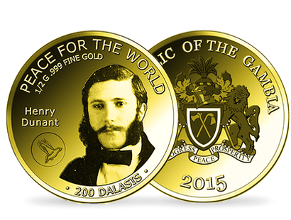 Peace for the World - Henry Dunant Commemorative Gold Coin